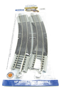 18in.Radius Curved Rerailer (2/Card)