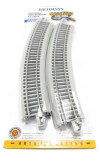 "Nickel Silver E-Z Track. 4 x 18"" radius ""electronic auto-reversing"" curves"