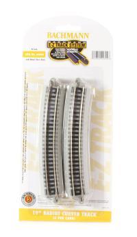 "Nickel Silver 19"" radius curved track (6/Card)"