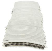 """Section of 11.25"""" radius curved track. Pack of 50 (12 make a circle)"""