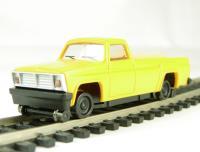 American maintenance of way pickup truck with high railers (motorised)