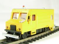 American maintenance of way step van with high railers