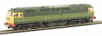 Class 47 Un-numbered BR green with full yellow ends