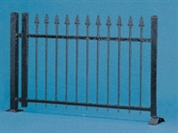 Iron Fence (black) HO Scale