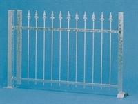 Iron Fence (silver) HO Scale