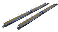 Pack of 4 Cargowaggon IPE/IGE557 bogie flat 4647 007 with Corus Rail brandings