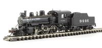 ALCO 2-6-0 Steam locomotive ATSF #9446 (DCC On Board)