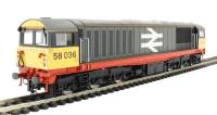 Class 58 58036 Railfreight Redstripe Livery with Orange Cantrail Stripe