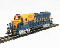 American GP40 diesel loco in Alaska livery