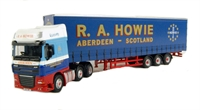 "DAF FTGXF105 Super Space Cab curtainside in ""R A Howie"" livery"