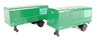 "Pair of trailers for Scammell Scarab van trailer in ""Southern"" livery"