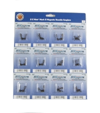 12 pairs of EZ mate mark 2 magnetic knuckle couplers with metal coil springs. Over Shank - Long