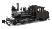 Baldwin 2-4-4 Forney Locomotive. Painted, Unlettered - Outside Frame (Black)