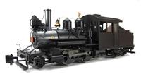 Baldwin 2-4-4 Forney Locomotive. Painted, Unlettered - Outside Frame (Black)