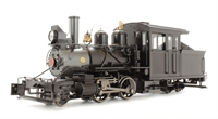 Baldwin 2-4-4 Forney steam locomotive. Painted. Unlettered - Inside Frame (Black)