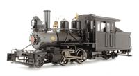 Baldwin 2-4-4 Forney steam locomotive. Painted. Unlettered - Inside Frame (Black)