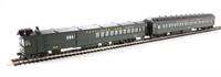 EMC Gas Electric Doodlebug Locomotive W/Trailer Coach B & O (Olive Green)