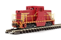 GE 44 Ton  Diesel Switcher Locomotive Painted, Unlettered - Red & Yellow