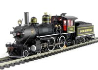 American Richmond modern 4-4-0 locomotive in Southern (black) livery with DCC Sound
