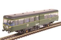 Park Royal Railbus SC79970 in BR green with speed whiskers