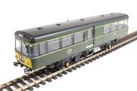 Park Royal Railbus M79972 in BR green with small yellow panels