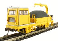 Ballast Vehicle with Crane in yellow (DCC On Board)