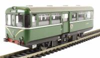 Railcar W79975 in BR light green with speed whiskers & semi-gloss finish