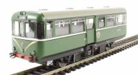 Railcar W79976 in BR light green livery with speed whiskers. Matt finish