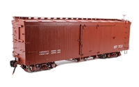 Box Car with Murphy Roof - Painted, Data Only - Oxide Red.