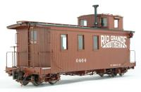 Long Caboose W/Lighted & Detailed Interior Rio Grande Southern W/Single Window Cupola
