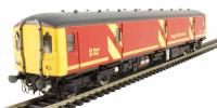 Class 128 DPU in Royal Mail red with full yellow ends and flush fronts 55995