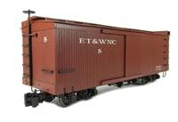 "Box Car ""ET & WNC"" in brown"