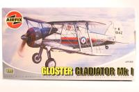 Gloster Gladiator biplane with RAF marking transfers - Pre-owned - Like new