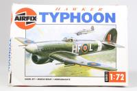 Hawker Typhoon 1B with RAF marking transfers - Pre-owned - sold as seen - Missing wing section - Poor box