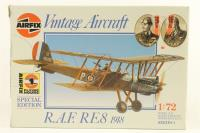 Royal Aircraft Factory RE8 biplane with RFC and Belgian AF marking transfers - Pre-owned - Like new - Factory Sealed