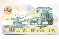 """AEC Matador & 5.5"""" Gun with British Army marking transfers. - Pre-owned - imperfect box"""