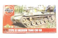 Type 97 Chi Ha tank with Japanese Army marking transfers - Pre-owned - Like new