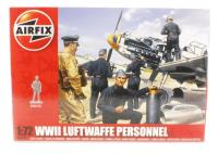 WWII Luftwaffe Personnel in various poses with equipment (48)
