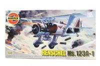 Henschel Hs123A-1 with Luftwaffe (Pre-WWII and WWII)  marking transfers - Pre-owned - Like new