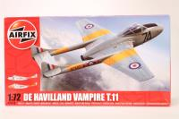 De Havilland Vampire T.11 trainer   - New Tool for 2013 - Pre-owned - imperfect box