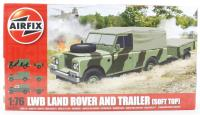 Long Wheelbase Landrover (Soft Top) & GS Trailer with British Army marking transfers.