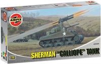 "Sherman M4 ""Calliope"" Tank with rocket launchers with US Army marking transfers."