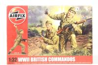 WWII British Commandos in assorted poses (14) - Pre-owned - imperfect box