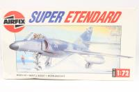 Dassault-Breguet Super Etendard carrier fighter - Pre-owned - some parts detached from sprues, but kit appears to be complete