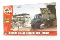 Bedford QL trucks 1 x QLT troop carrier and 1 x QLD general purpose truck with British Army marking transfers - Pre-owned - Like new
