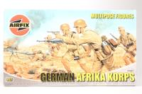 WWII German Afrika Corps - Multipose Figures - Pre-owned - sold as seen - Some Painting Begun - Imperfect Box
