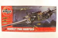 Handley Page Hampden with RAF and Swedish Air Force marking transfers - Pre-owned - sold as seen - Started, not finished- Imperfect Box