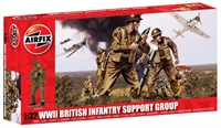 WWII British Infantry Support Set in assorted poses (14)
