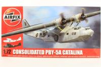 Consolidated PBY-5A Catalina with RAF and US Navy marking transfers - Pre-owned - some parts separated from mould grid