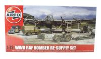 WWII Bomber Re-Supply Set with bombs, ammunition, fuel, Bedford truck, Austin Tilly & other accessories